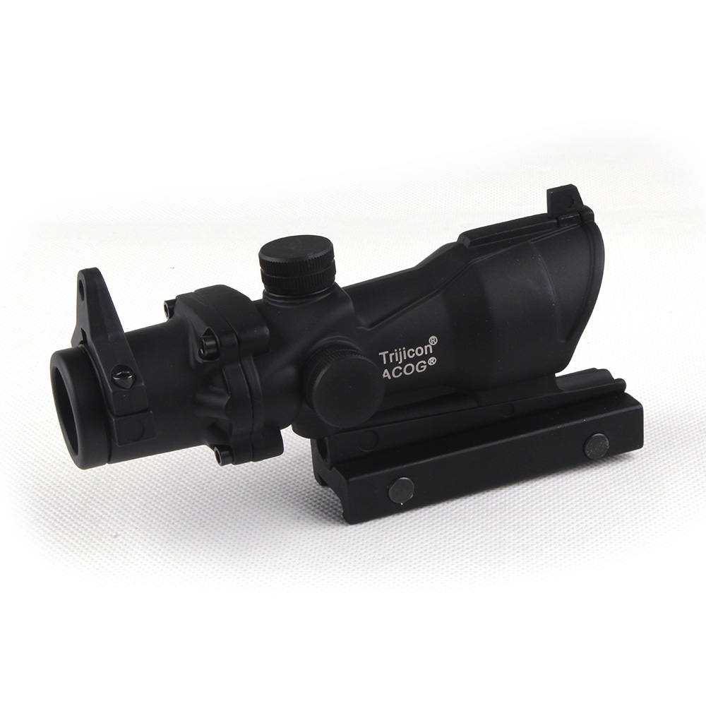 Tactical 4x32 Crosshair Scope with Lron Sights 20mm Weaver Picatinny Rail Mounts For Hunting Riflescopes