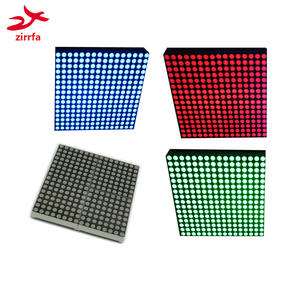 16x16 led dot matrix display module unlimited cascading red/green/blue finished