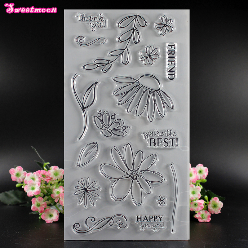 Thank you, my friend. You are the best Scrapbook Clear Stamp photo cards account rubber stamp  Embossing Folder card Stamp