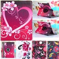 360 Degrees Rotate Case For Apple Ipad 2 Case Girl Lovely Tablet Cover For Apple Ipad 4 /Ipad 3 Case Stand PU Leather Back Strap
