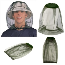 Green Outdoor Fishing Cap Midge Mosquito Insect Hat Fishing Hat Bug Mesh Head Net Face Protector Travel Camping Cap Hats black mosquito bug insect bee mesh head net protect hat fishing camping hunting
