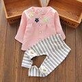 Novo 2017 Outono Inverno roupas da menina da criança do bebê Recém-nascido conjunto de roupas da menina do natal roupas vetement fille menina conjunto bebê