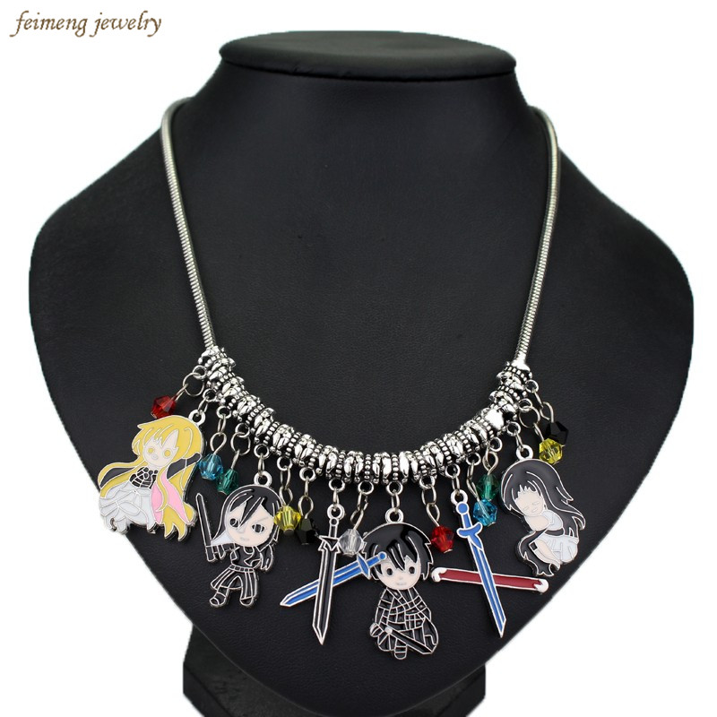 2016 New Design DIY Anime Pokemon GO Cartoon Glaze Crystal Beads Pendant Necklace Christmas Gifts For Woman Game Jewelry