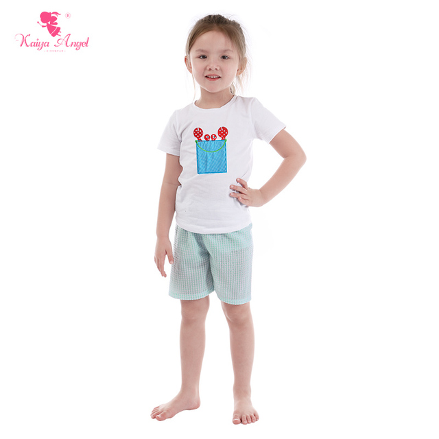 Kaiya Angel Baby Girls Boys Summer Clothes White Cotton Cartoon Crab