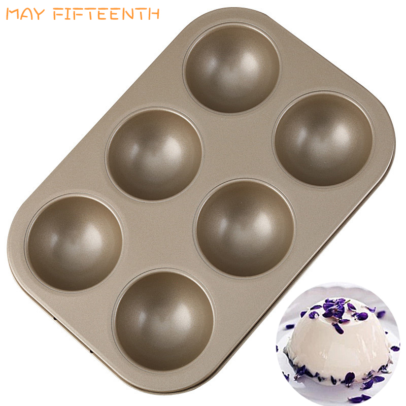 MAY FIFTEENTH Mini Rectangle Cake Egg Tart Mold Carbon Steel Baking Tray for Party Decor Cupcake Muffin Pan 6 Cups Cake Mold 033