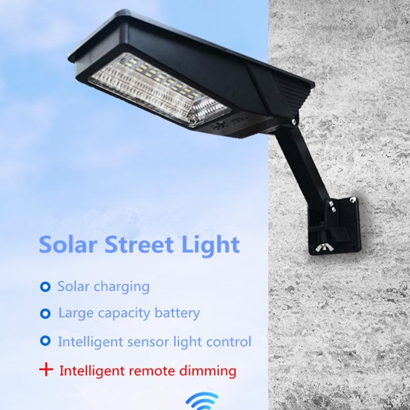 Solar Street Light Waterproof Outdoor 12W Solar Powered Radar Motion+Light/Remote Control For Garden  Street Style Flood Lamp