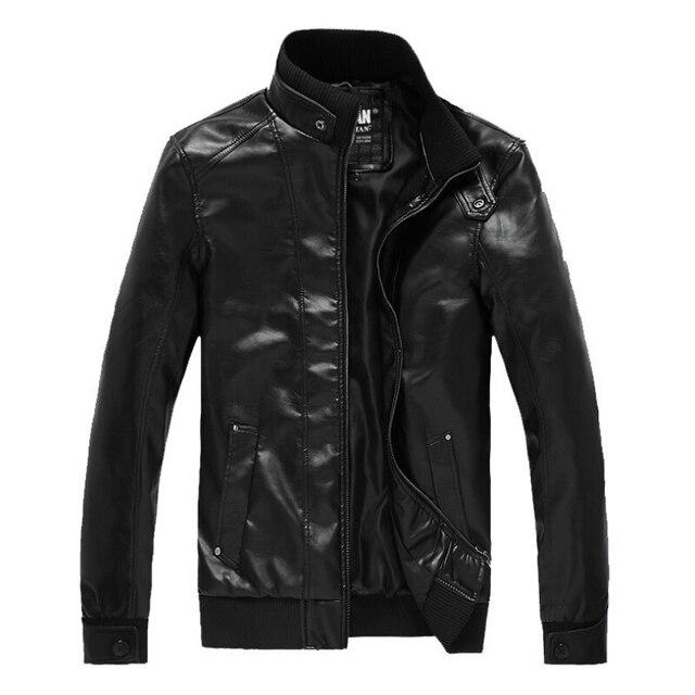 Осень Высокое качество кожаная куртка мужчины jaqueta де couro masculina зимние мужские кожаные куртки бренд мужской пальто мотоцикла