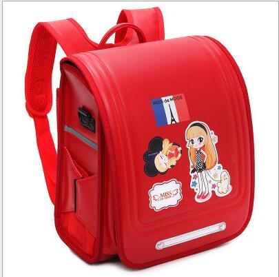 08005b5d8207 Европейский начальной школы школьный 1-3 класс дети рюкзак, отражающие свет  водонепроницаемый детский сад