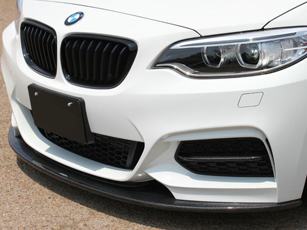 Car styling AP Style Carbon Fiber Front Bumper Duct Insert Glossy Finish Splitter Kit Tuning Trim Fit For BMW F22 2 Series-in Body Kits from Automobiles & Motorcycles    3