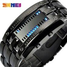 SKMEI творчески led умные часы Мужчины трекер сна шагомер 30 м водонепроницаемые спортивные часы Любители цифровые наручные часы W03