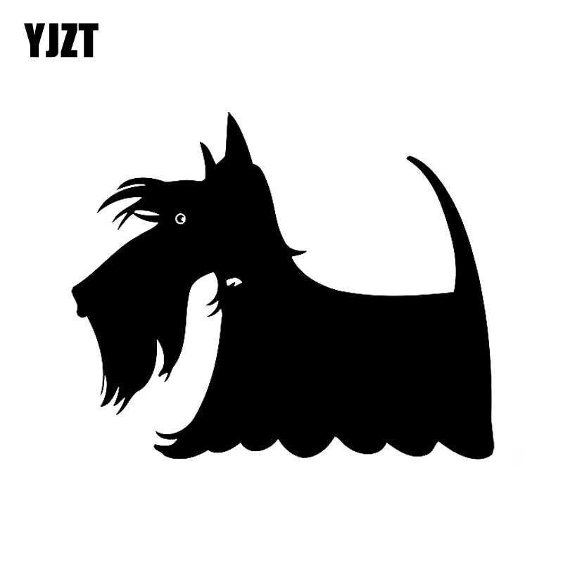 Yjzt 15Cm * 12.5Cm Scottie Hond Sticker Decor Vinyl Auto Decal Zwart/Zilver C10-00236
