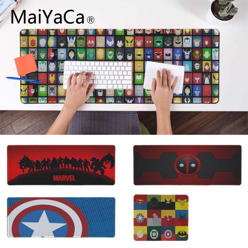 MaiYaCa Top Quality Marvel Comics Computer Gaming Mousemats Pad To Mouse Notbook Computer Gaming Mouse Pad Keyboard Mouse Mats