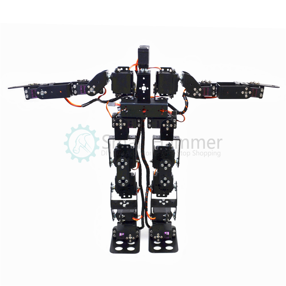17 degrees of freedom humanoid dance robot/bipedal race walking robot/teaching kit/robot race робоконструктор ultimate robot kit makeblock