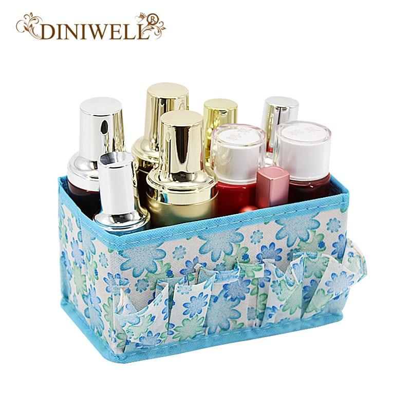 DINIWELL 5 Colors Home Office Desktop Multifunction Folding Makeup Cosmetics Zakka Storage Box Container Case Stuff Organizer