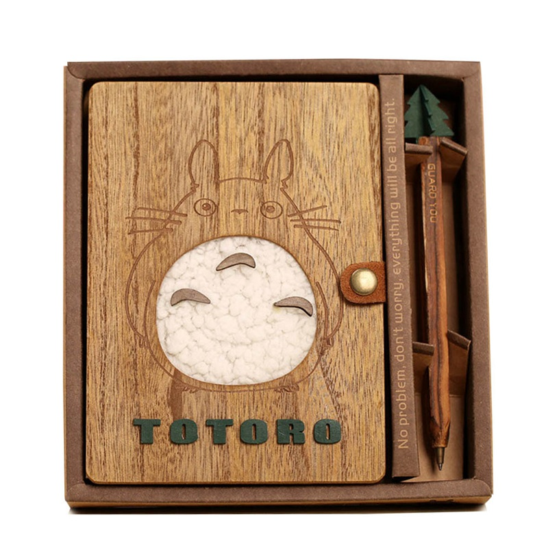 Lovely Cartoon Totoro Planner Notebook Cute Wooden Chinchilla Diary Note Book Gifts School Office Stationery Supplies