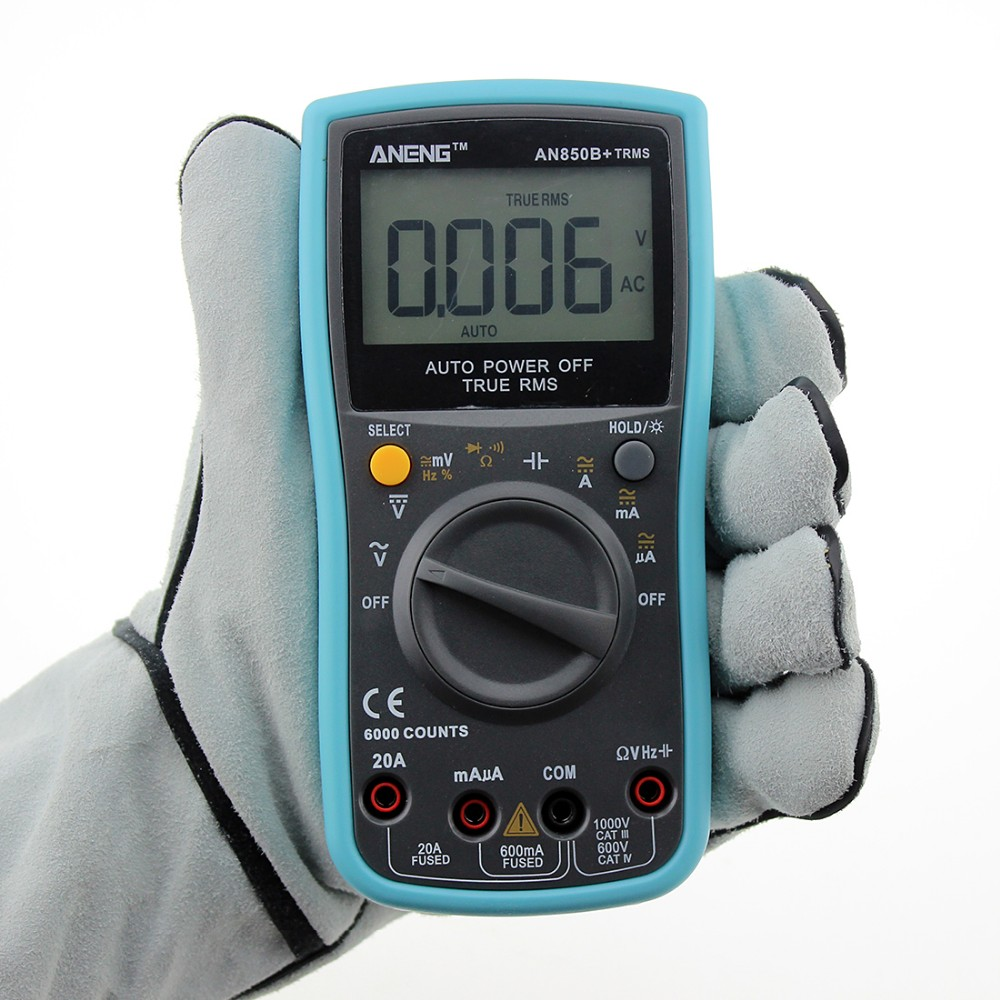 ANENG ANG850B+ 17B+ AC/DC Voltage,Current,Capacitance,Ohm Auto/Manual Range Digital multimeter with Temperature Measurement my68 handheld auto range digital multimeter dmm w capacitance frequency