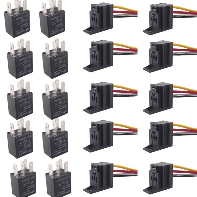 ee support 10 x car 30a amp 12v relay kit spst for fan fuel pumpee support 10 x car 30a amp 12v relay kit spst for fan fuel pump light horn 4pin 4 wire xy01