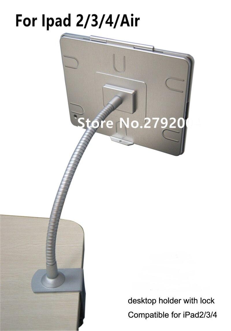 Boîtier de serrure d'ordinateur de boîtier d'affichage de pc plat de bâti de table de comprimé de serrure de sécurité d'ipad de maison Flexible avec la bride pour l'ipad 2/3/4/air