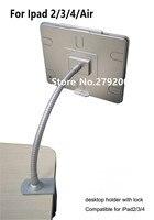 Flexible haus ipad sicherheitsschloss tablet tischbefestigung flachen pc display gehäuse computer schlosskasten mit klemme für Ipad 2/3/4/luft|EAS-System|Sicherheit und Schutz -