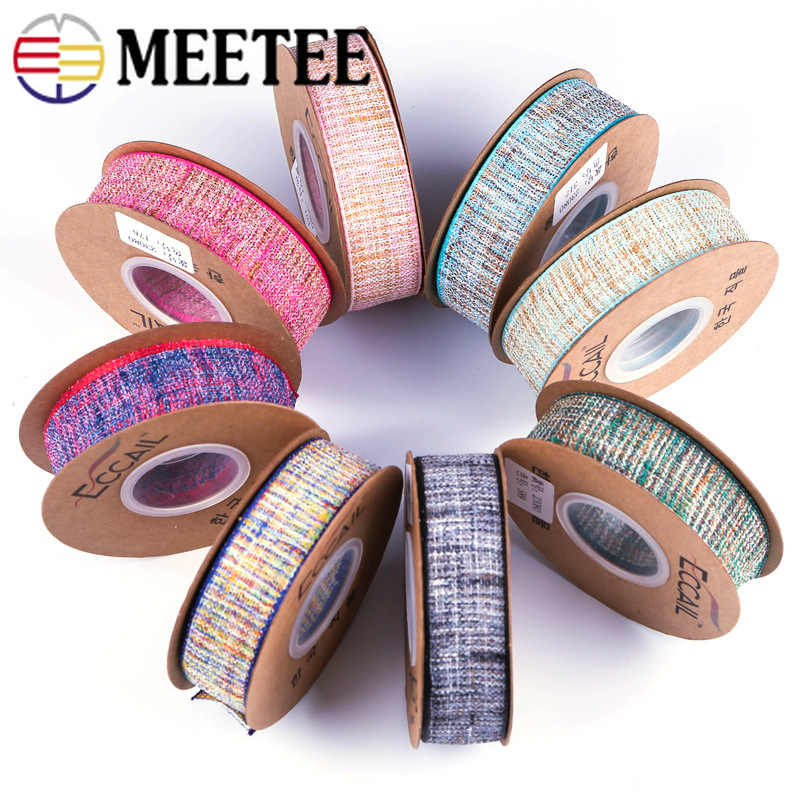 Фото Meetee 9 метров 25/40 мм полиэстер Цвет лента Костюмы кружевное полотно отделка