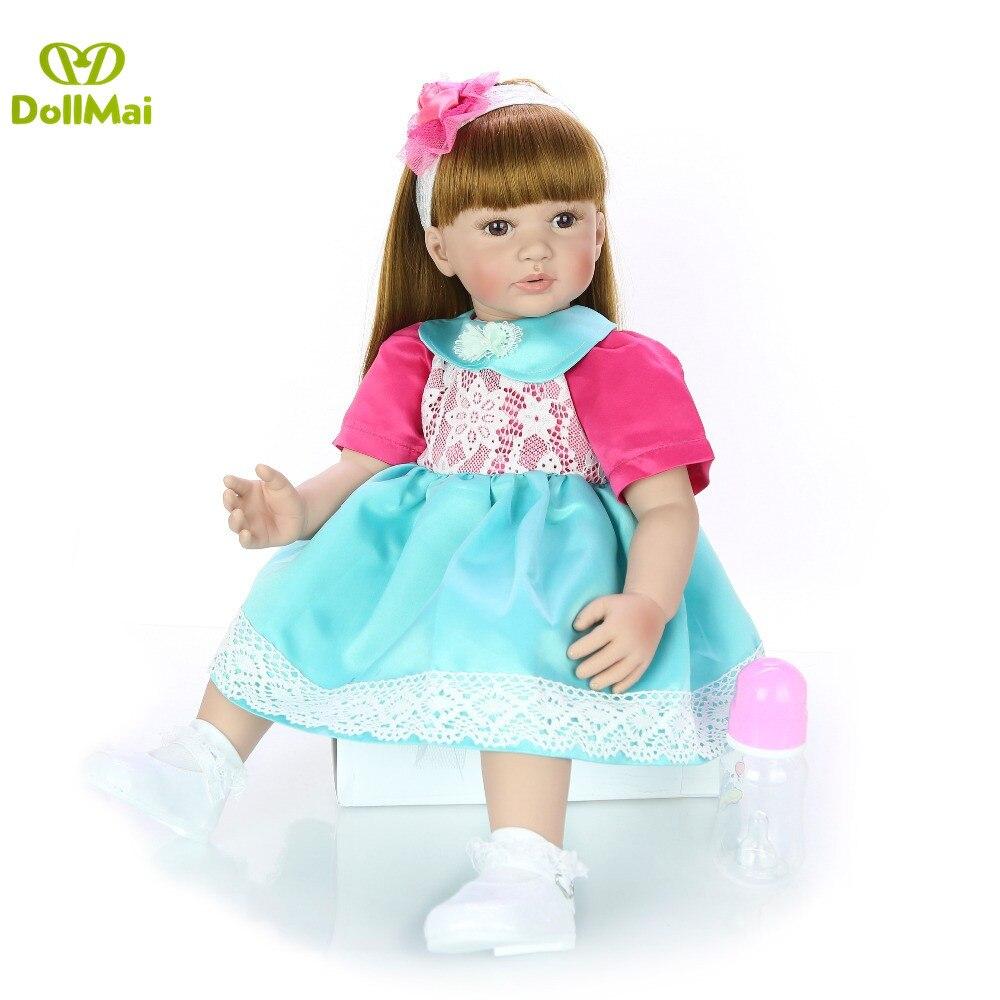 DollMai 60 CM bebe reborn bébé poupée fait à la main adorable Silicone reborn bambin Bonecas fille enfant silicone poupée lol cadeau - 5