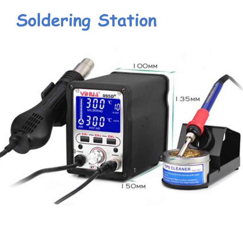цены  Soldering Station Used for Motherboard Repair Tools Electric Soldering Irons YIHUA 995D+