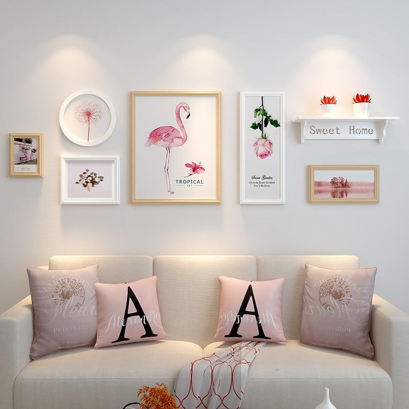 6pcs Picture Frames Shelf Collage