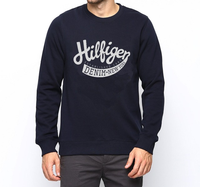 Jones Designer look High Quality vintage denim Long Sleeves top boys FashioN club jack men west style mens sweatshirt tee