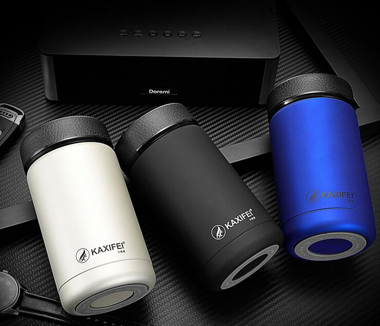 2016 400ml 304 double Stainless Steel Car Mug Outdoor Camping Hiking Portable <font><b>Tea</b></font> Coffee Insulation <font><b>Cup</b></font> With Colorful Box