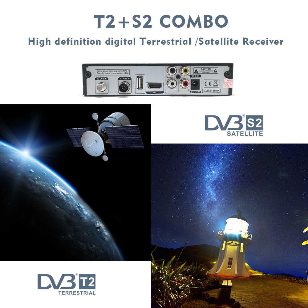 Vmade DVB-T2 terrestre S2 récepteur Satellite collocation 1 an Europe espagne CCcam 7 Clines serveur + 1 clé USB WIFI