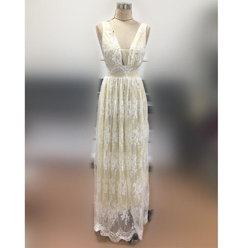 78610843f3 White Lace Dresses For Women 2019 Mesh Formal Dress Plus Size Maxi Boho  Dresses Bodycon Dress Elegant Dames Kleding Abiye Elbise-in Dresses from  Women's ...