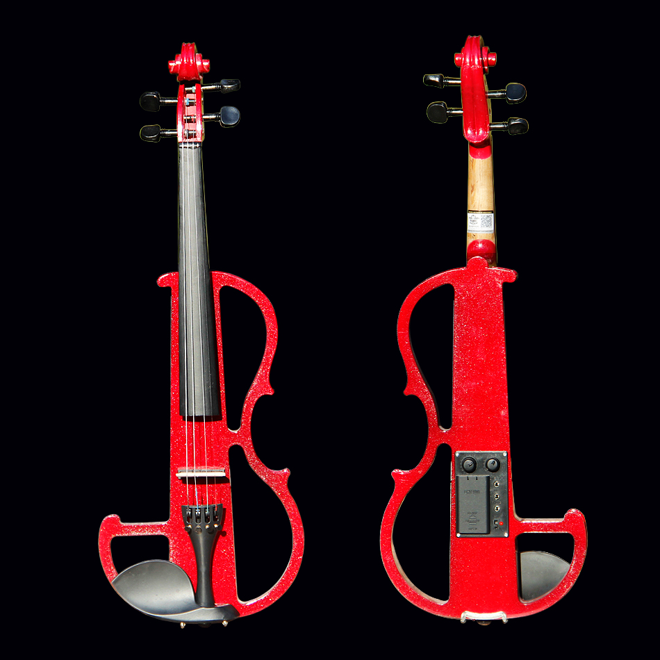 4/4 Violin Classic Red Electric Violin with Violin Case and Violin Bow Excellent Tone Quality Made in China handmade new solid maple wood brown acoustic violin violino 4 4 electric violin case bow included
