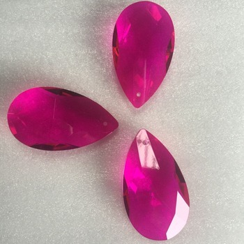 Róża 10 sztuk partia gorąca sprzedaży produktu kryształowy żyrandol pryzmat części do dekoracji wnętrz tanie i dobre opinie 30mm 50mm 20mm Rose lamp chandelier parts 10pcs crystal mash shape