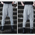 Cool New Men's England Sytle Plover Checked Drop Crotch Casual Fashion Harem Pant Bloomers