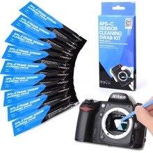 Kit de limpieza de Sensor de cámara VSGO, DDR 15, 10 Uds., hisopos Sensoe para limpieza de cámaras digitales Nikon SLR