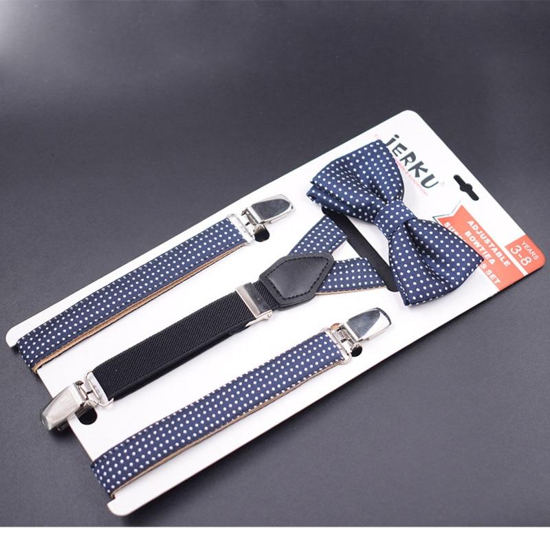 Baby Suspenders Set 3 Clips Kids Braces Boy's Suspensorio No Elastic Adjustable Tirantes Bretelles 2.0*75cm New Fashion Design