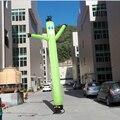 Frete grátis 20ft 6 m 45 cm diâmetro do tubo inflável dançarino do ar publicidade verde, o homem do céu inflável