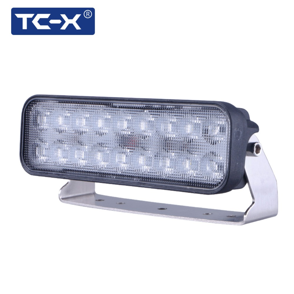 TC-X 7 Inch 18 x 3W LED Light Bar Ultra Flood Lights para camión Remolque Off Road Lighting 4WD ATV UTV SUV LED Lámpara de luz de trabajo