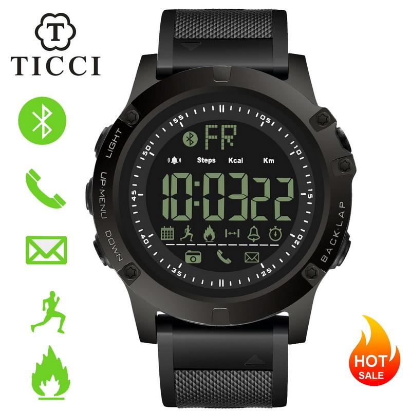 Rastreador de fitness Sports Digital Smartwatch Bluetooth Relógio Inteligente Pedômetro Lembrete de Chamada de Alerta de Mensagem Homens Meninos IOS e Android