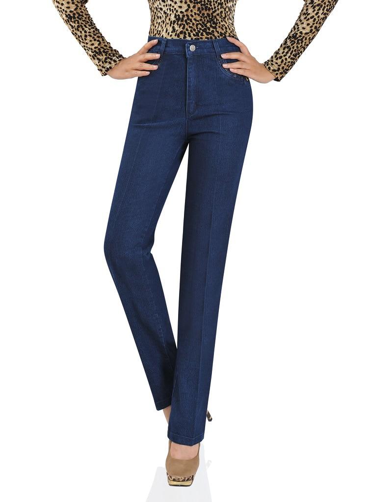 ФОТО New Winter Ms Tall Waist Fertilizer Plus-size Mom Jeans Pants Cowboy Pants