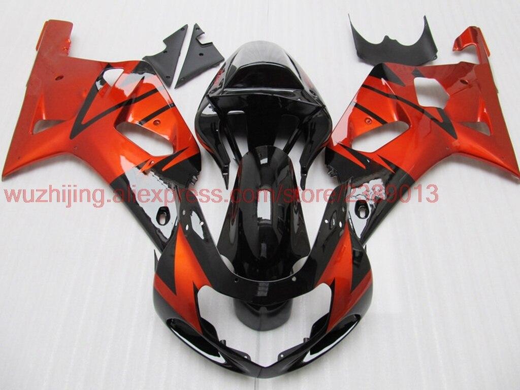 GSX R 600 750 1000 2000-2003 K1 K2 02 03 зализа ABS GSXR750 02 03 красные, черные зализа ABS для Suzuki GSXR1000 2001 обтекателя Наборы
