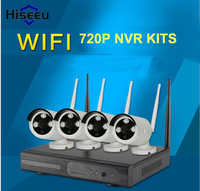 720P Wireless CCTV System 4ch Wifi NVR KITS Wireless NVR IP Camera Bullet CCTV Camera Home