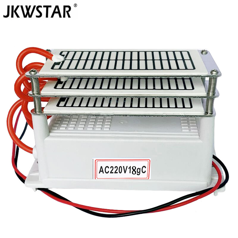 18g Ozone Generator 220v Air Purifier Ozonizer Sterilizer Stainless Steel Electrode Damp-Proof Long Life Ozone Plate