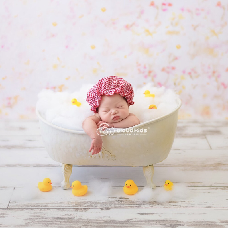 Baby Tub Newborn Photography Props Infant Photo Shoot Props Ornaments Water-tight Bathtub Shower Tub Accessories Bebe Baskets