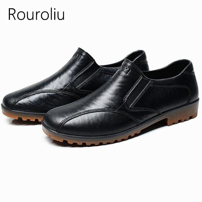 2019 Mode Rouroliu Männer Ankle Regen Schuhe Pvc Wasserdichte Wasser Schuhe Mann Gummistiefel Atmungs Nicht-slip Arbeit Sicherheit Schuhe Rt268