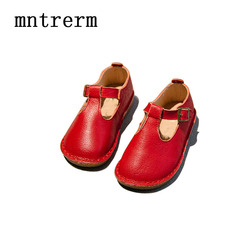 Mntrerm 2017 the new kids shoes baby genuine leather shoes girls retro t word soft bottom.jpg 250x250