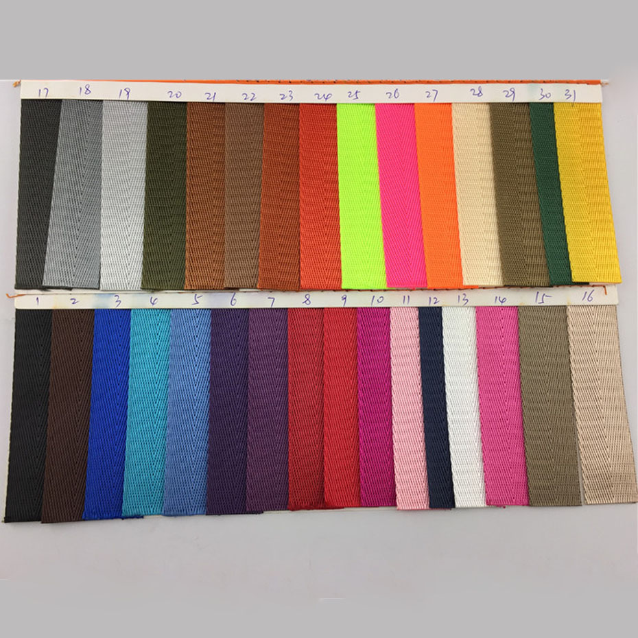 """50 Yards/Roll Multi-Color 25mm 1"""" Webbing Garment Ribbon Strap For Backpack Bags Belt Strap Tape Handmade Accessories 31 Colors"""