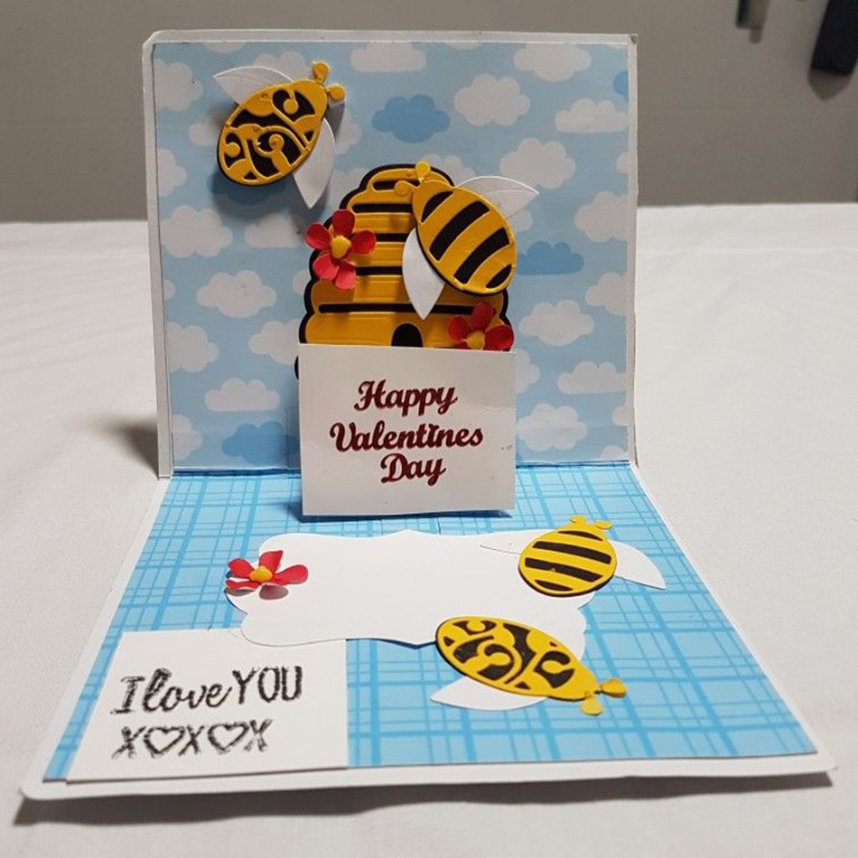 Bee Metal Cutting Dies Stencil Scrapbooking Card Paper Embossing Craft FO