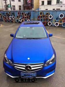 Image 3 - Ice Blue Matte Chrome Vinyl Car Wrap Skin Covering With Air Release Matt Chrome Metallic Vinyl Film Foil