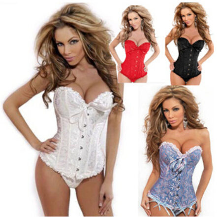 free shipping clearance Lace up green floral brocade corset S M L XL 2XL 3XL 4XL 5XL 6XL 7XL 8XL